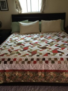a custom quilt finds it